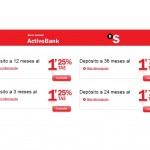 ActivoBank baja la rentabilidad de sus depósitos en 0,25 puntos porcentuales