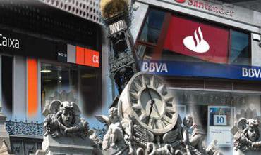 Fotomontaje-sucursales-diversas-entidades-financieras-detalle-edificio-Banco-Espana