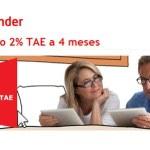 iSantander ya anuncia su depósito al 2% TAE en su web
