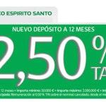 Nuevo Depósito a 12 meses al 2,5% TAE del Banco Espírito Santo: ¡adiós al 2,8% TAE!
