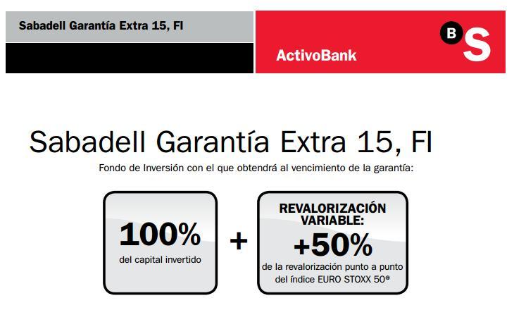 fondo sabadell garantia extra 15