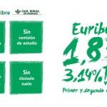 Nueva Hipoteca Libre de Caja Rural de Granada ¡a Euribor + 1,85%!