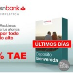 Depósito Bienvenida Open al 2 % TAE: ¡últimos días!
