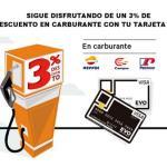 EVO Banco descuenta un 3 % al repostar carburante en Repsol, Campsa y Petronor