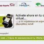 Caja España Duero regala un soporte para el móvil por utilizar la banca online