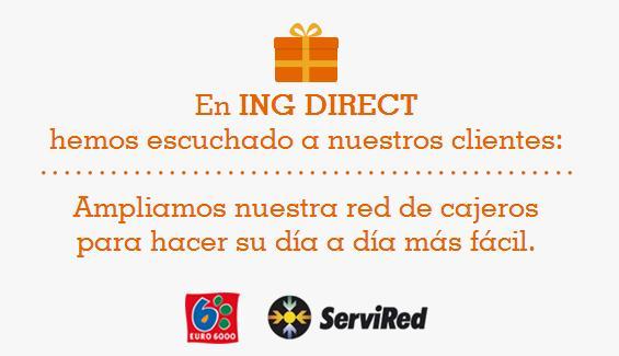 Los clientes de ing direct ya pueden sacar dinero gratis for Cajeros santander cerca de mi