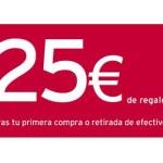¡25 € de regalo con la tarjeta de crédito Bancopopular-e! ¿Conoces todas sus ventajas?