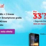 Vodafone añade la 2ª línea móvil gratis a sus Integrales