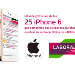 Laboral Kutxa sortea 25 iPhones 6 por usar tarjetas o entrar en la Banca Online