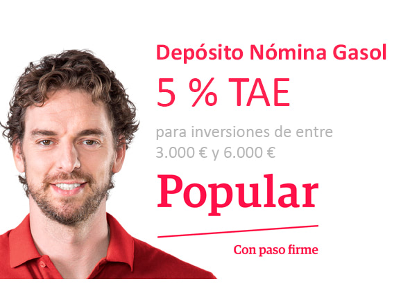 Deposito nomina gasol 5 tae banco popular