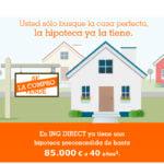 ¿Eres cliente de ING Direct? ¡Enhorabuena! Te ha sido concedida una hipoteca
