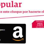 Popular premia a sus nuevos clientes con cheques regalos de 60 euros para Amazon