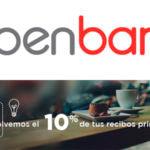 100 € de regalo al domiciliar la nómina y un 10 % en devolución de recibos con Openbank