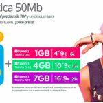 Las tarifas de Tuenti y Movistar convergentes no pasan de los 50 euros