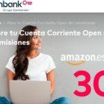 30 € de regalo para Amazon.es al abrir la Cuenta Corriente Open