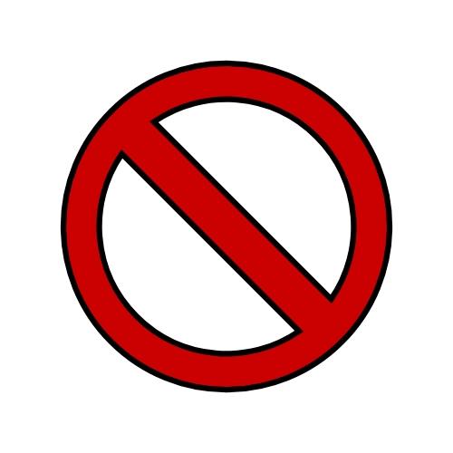 prohibido