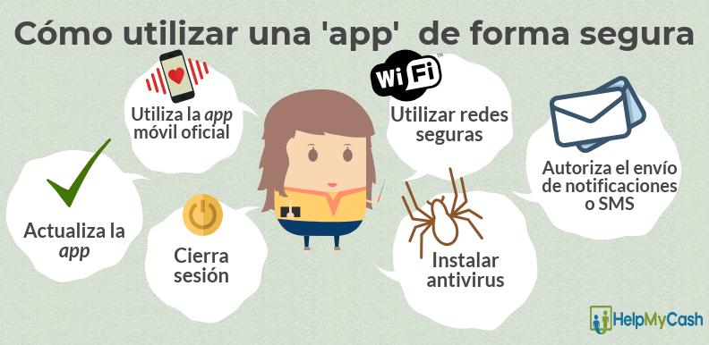 infografia app movil segura