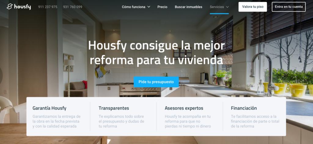 Housfy se moja con un nuevo servicio de reformas