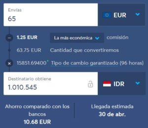 transferwise comisiones