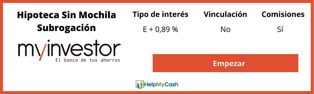 Hipoteca Myinvestor subrogacion