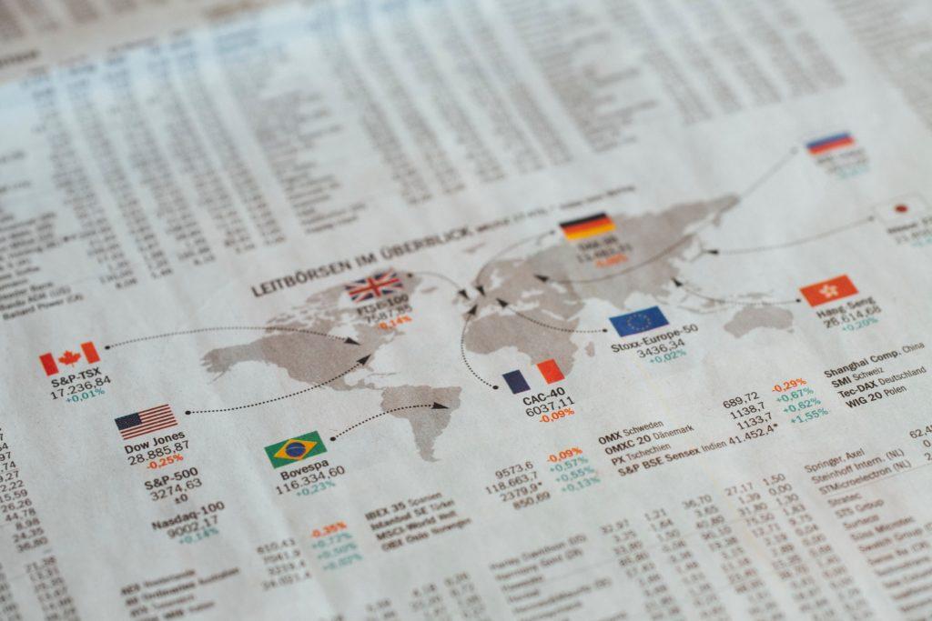 dinero invertido en lugares del mundo